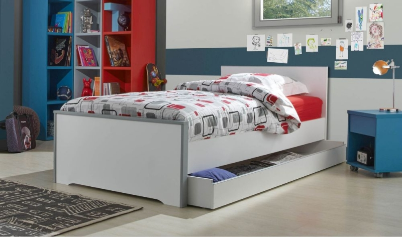 Gami Babel White Bed with Drawer