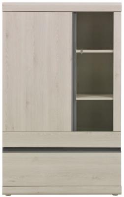 Gami Barolo Whitewashed Pine Storage Cabinet - 2 Door 1 Drawer