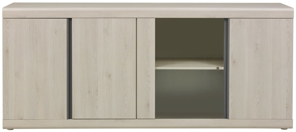 Gami Barolo Whitewashed Pine Sideboard - 4 Door