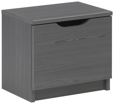 Gami Brooklyn Sunset Pine and Black Bedside Cabinet