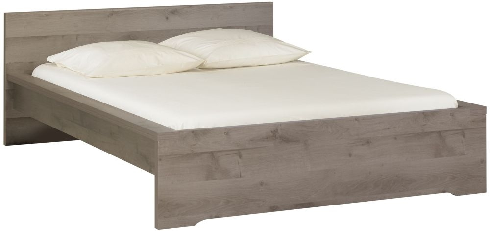 Gami Brooklyn Oak Ash and Taupe Bed