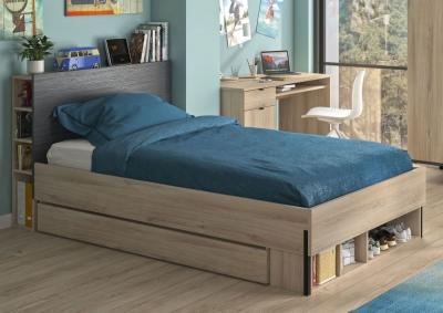 Gami Castel Light Oak Bed with Headboard