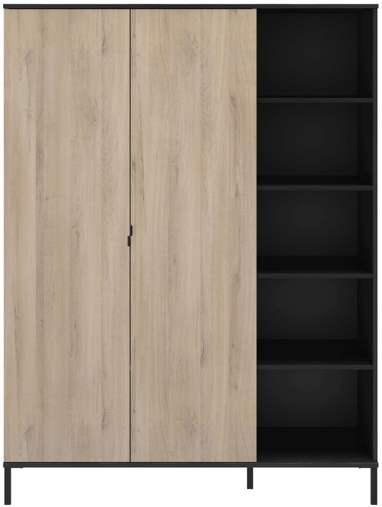 Gami Castel Light Oak 2 Door Wardrobe