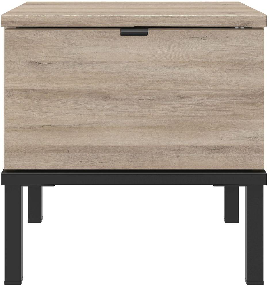 Gami Castel Light Oak Bedside Cabinet