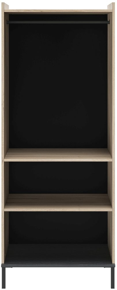Gami Castel Light Oak Open Wardrobe