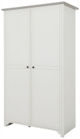 Gami Charlotte Veined White 2 Door Wardrobe