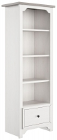 Gami Charlotte Veined White Bookcase