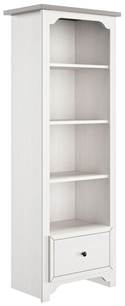 Gami Charlotte Veined White Bookcase