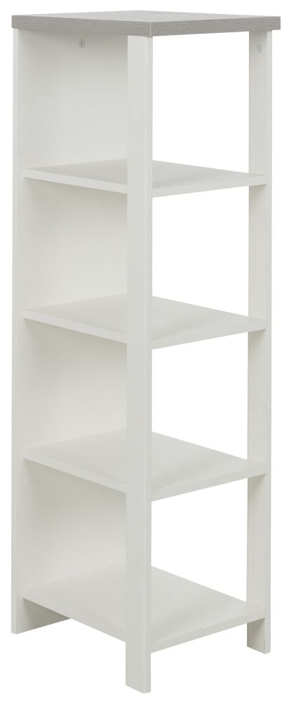 Gami Charlotte Veined White Small Bookcase