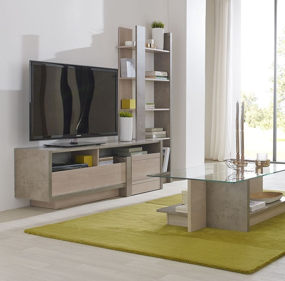 Gami Colima TV Unit with Shelves