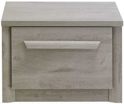 Gami Eden Grey Oak Bedside Cabinet - 1 Drawer