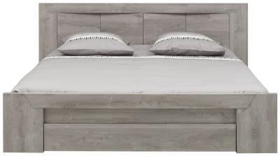 Gami Eden Grey Oak Bed with Drawer