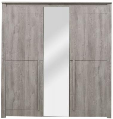 Gami Eden Grey Oak Wardrobe - 3 Door