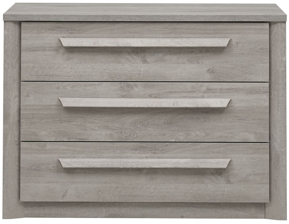 Gami Eden Grey Oak Chest of Drawer - 3 Drawer