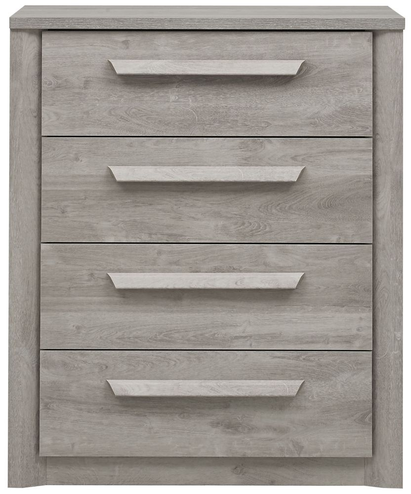Gami Eden Grey Oak Chest of Drawer - 4 Drawer