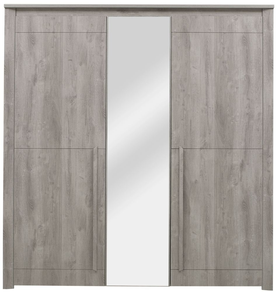 Gami Eden Grey Oak Wardrobe - 3 Door
