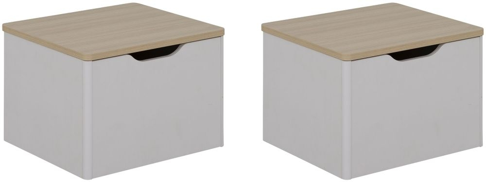 Gami Eliott Sanded Light Grey Mobile Pedestal Unit (Set of 2)
