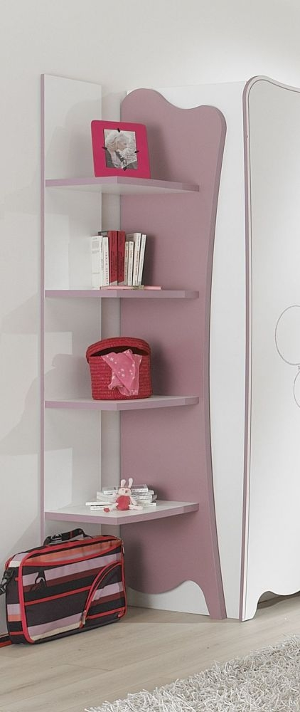 Gami Elisa White and Lilac Pink Bookcase