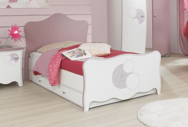 Gami Elisa White and Lilac Pink Bed