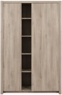 Gami Ethan Light Oak 2 Door Wardrobe