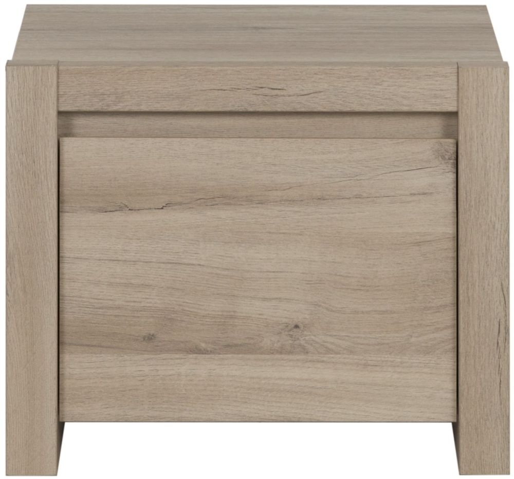 Gami Ethan Light Oak Bedside Cabinet