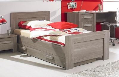 Gami Hangun Charcoal Oak Bed