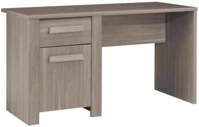 Gami Hangun Charcoal Oak Desk - 1 Door 1 Drawer