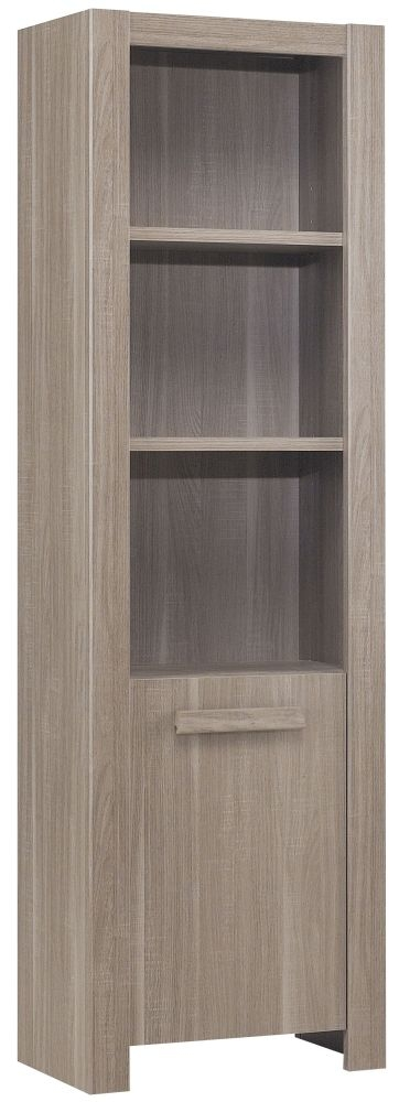 Gami Hangun Charcoal Oak Bookcase - 1 Door