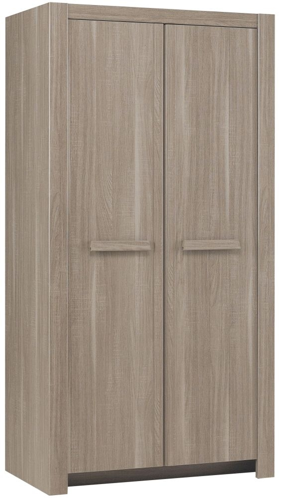 Gami Hangun Charcoal Oak Wardrobe - 2 Door