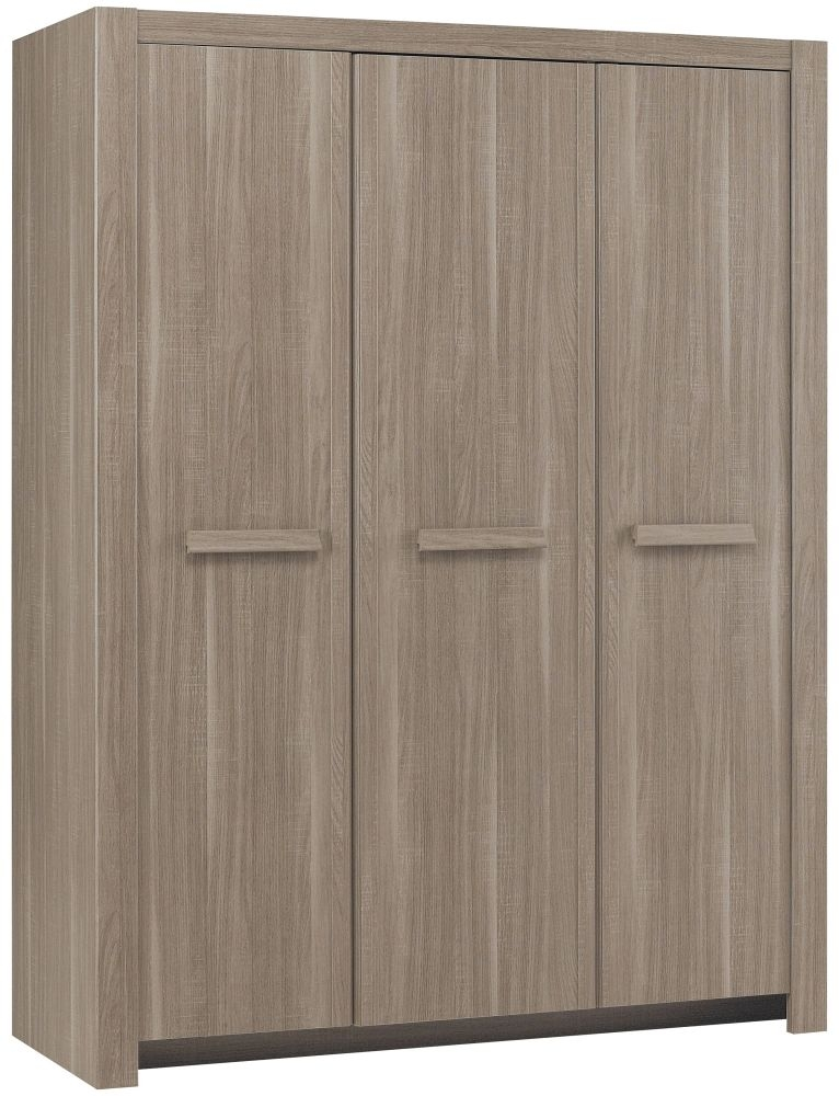 Gami Hangun Charcoal Oak Wardrobe - 3 Door