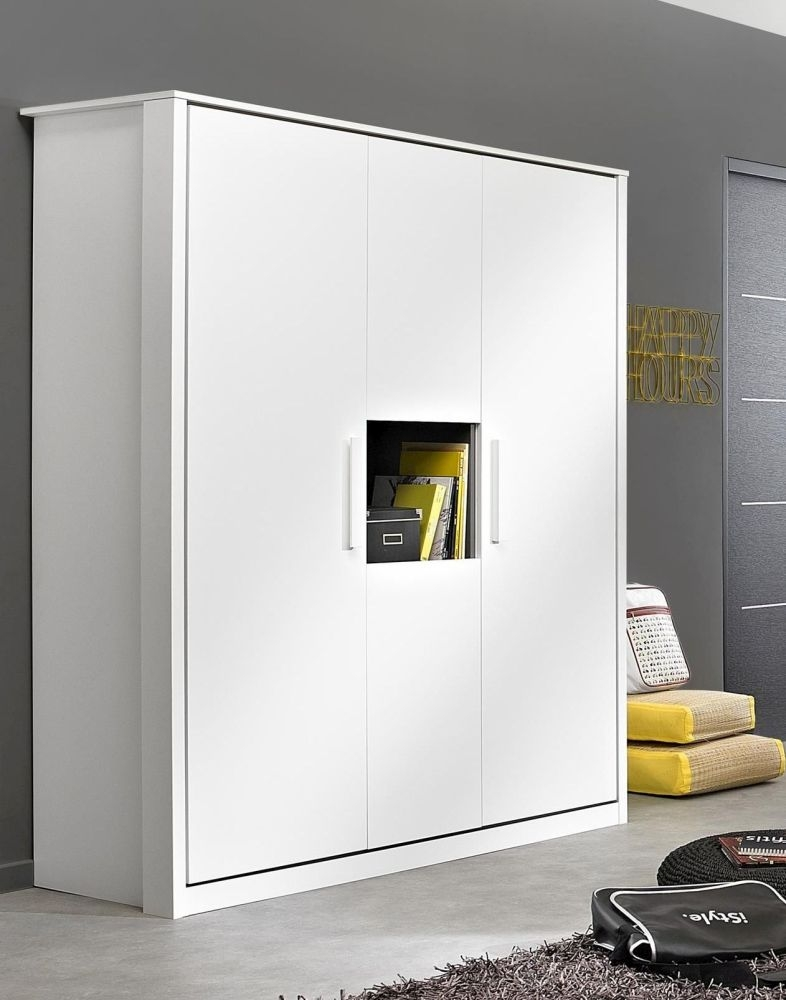 Gami Jeko White Wardrobe - 4 Door 1 Niche