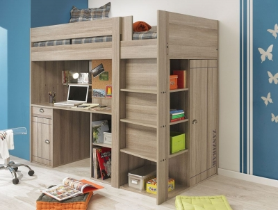 Shop online bunk beds well designed bunk beds on sale - Bed kind met mezzanine kantoor ...