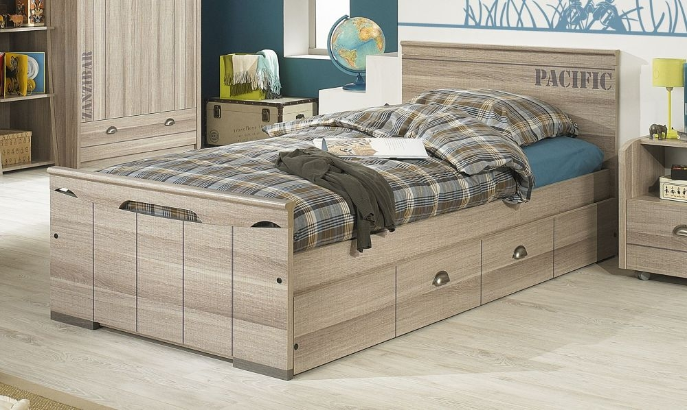 Gami Largo Grey Oak Bed
