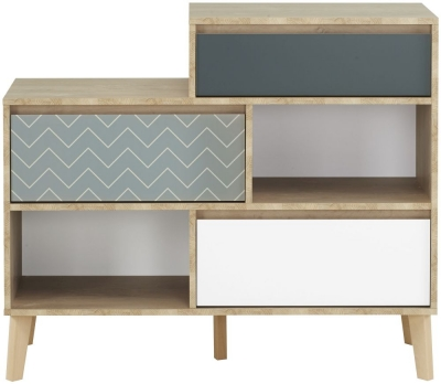Gami Larvik Blond Oak 3 Drawer Chest with 2 Niches