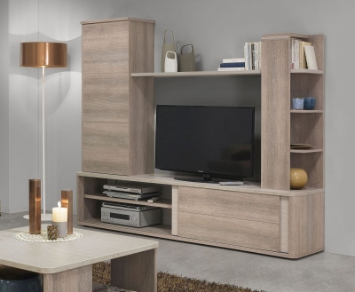 Gami Lukka Grey Hazelnut Entertainment Centre
