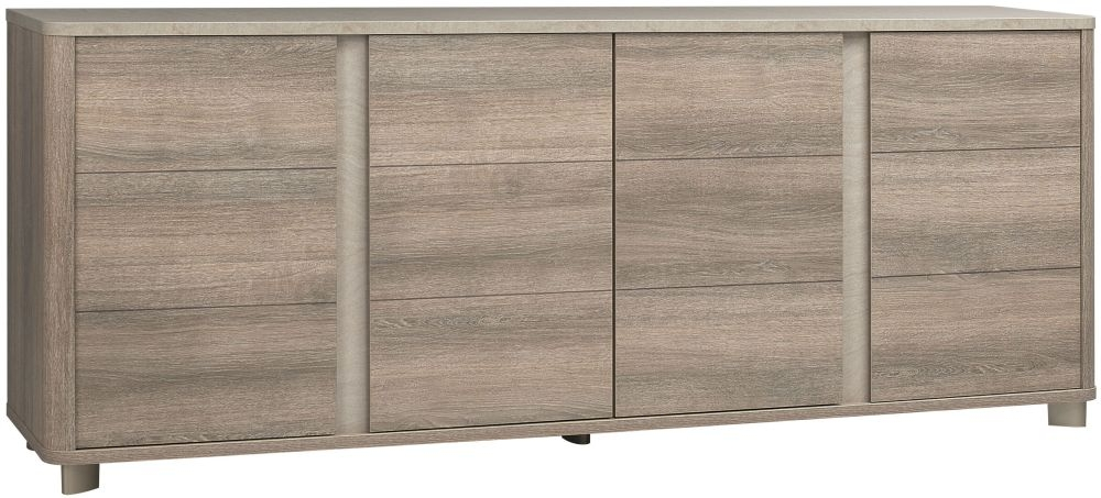Gami Lukka Grey Hazelnut Sideboard - 4 Door