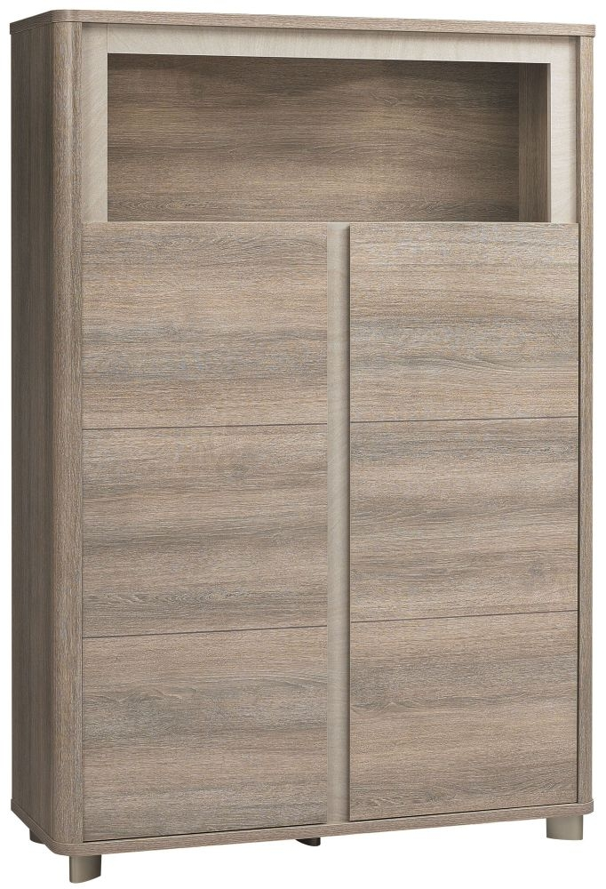 Gami Lukka Grey Hazelnut Storage Unit   2 Door Tall