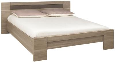 Gami Moka Charcoal Oak Bed