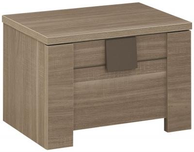 Gami Moka Charcoal Oak Bedside Cabinet - 1 Drawer