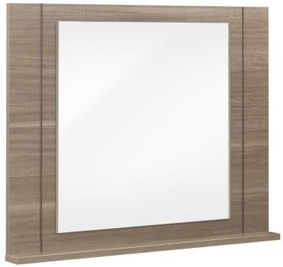 Gami Moka Charcoal Oak Mirror - Wall Mounted