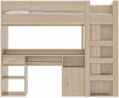 Gami Montana Blond Oak High Bed