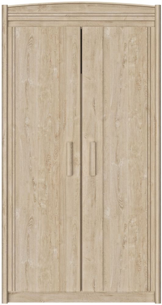 Gami Montana Blond Oak 2 Door Wardrobe