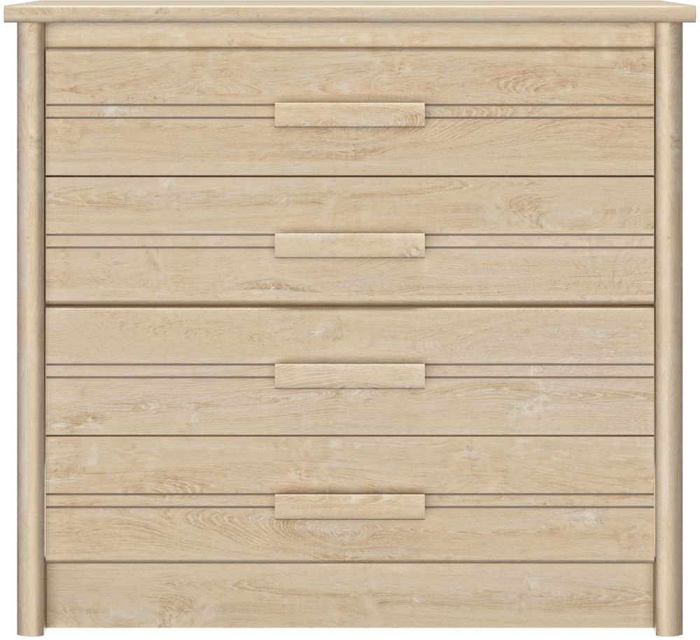 Gami Montana Blond Oak 4 Drawer Chest