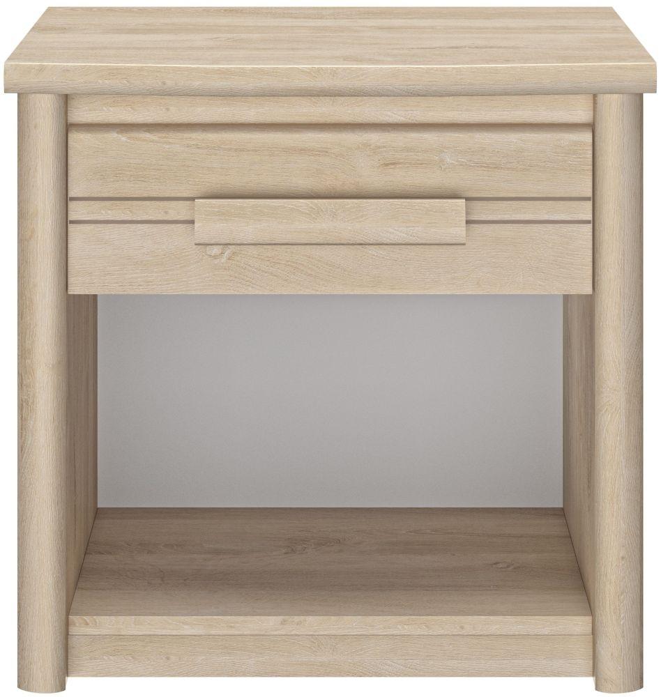 Gami Montana Blond Oak Bedside Cabinet