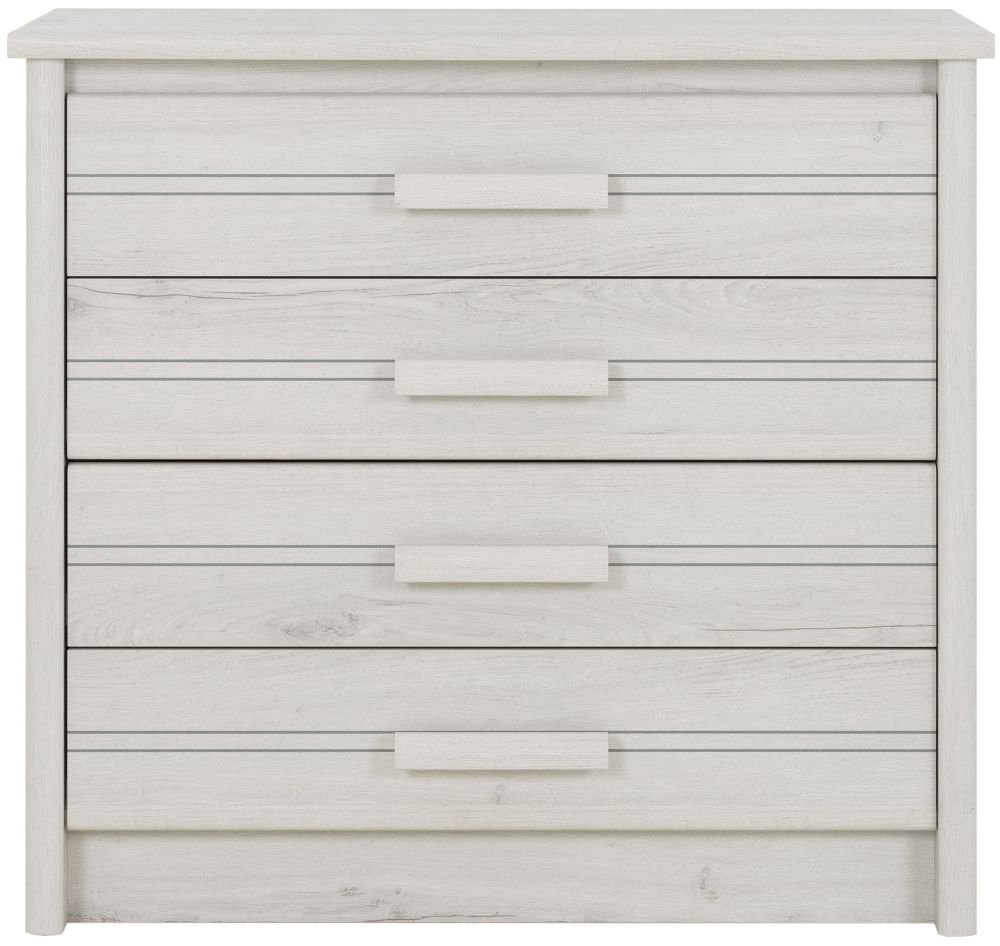 Gami Montana Whitewashed Oak 4 Drawer Chest