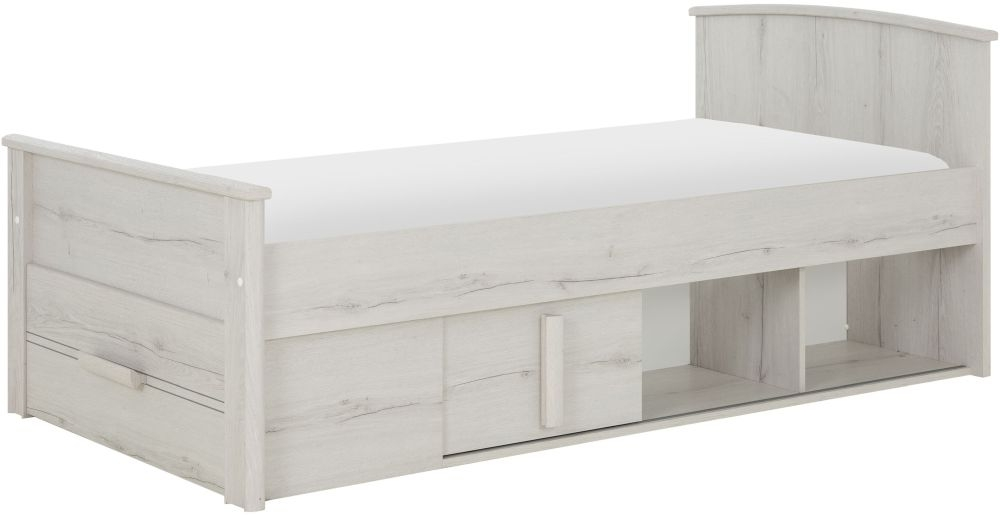 Gami Montana Whitewashed Oak Compact Bed