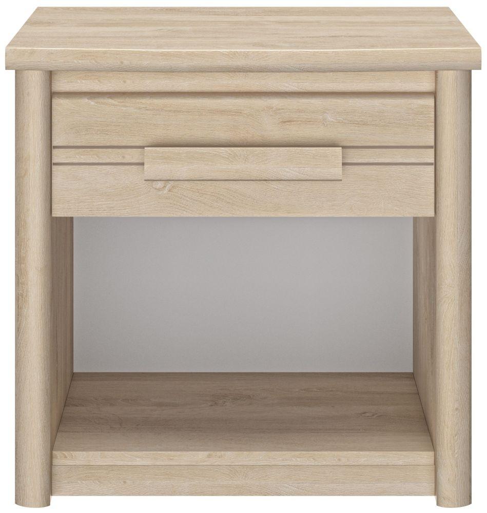 Gami Montana Blond Oak 1 Drawer Bedside Cabinet