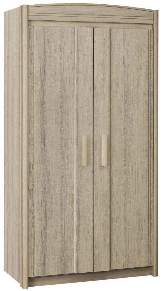 Gami Montana Grey Oak Desk Wardrobe - 2 Door