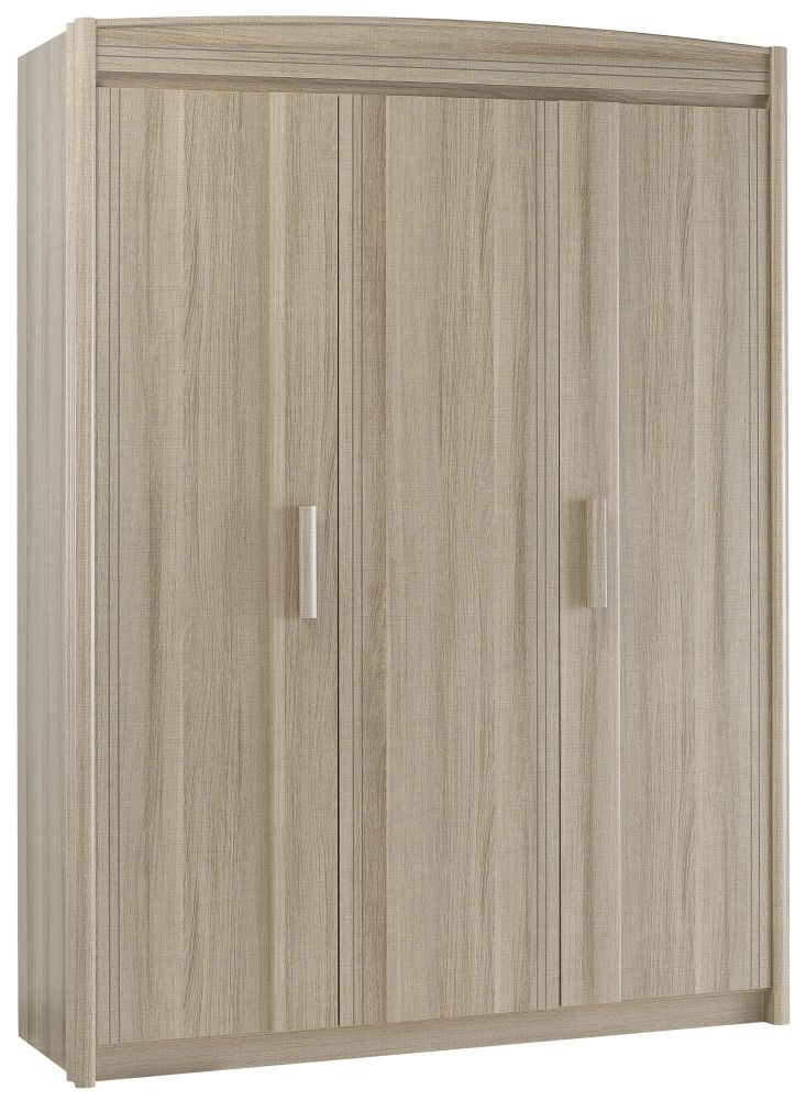 Gami Montana Grey Oak Desk Wardrobe - 3 Door