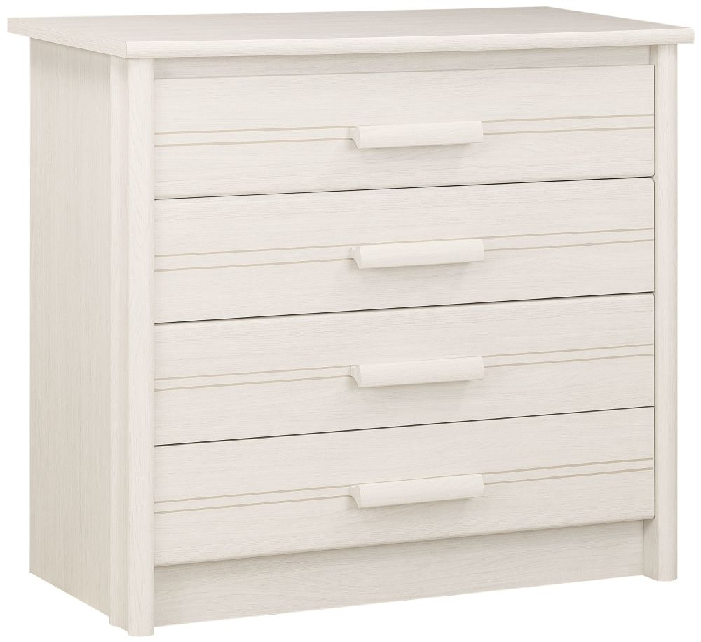 Gami Montana Whitewashed Ash Chest of Drawer - 4 Drawer